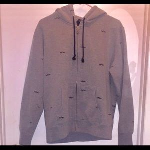 DC Sweaters - Men's DC Shoes Gray Zip Up Sweatshirt Size M